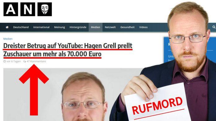 FreiHoch3 - Was hat Hagen Grell mit den 70.000 Euro gemacht - Spenden Geld Betrug Youtube