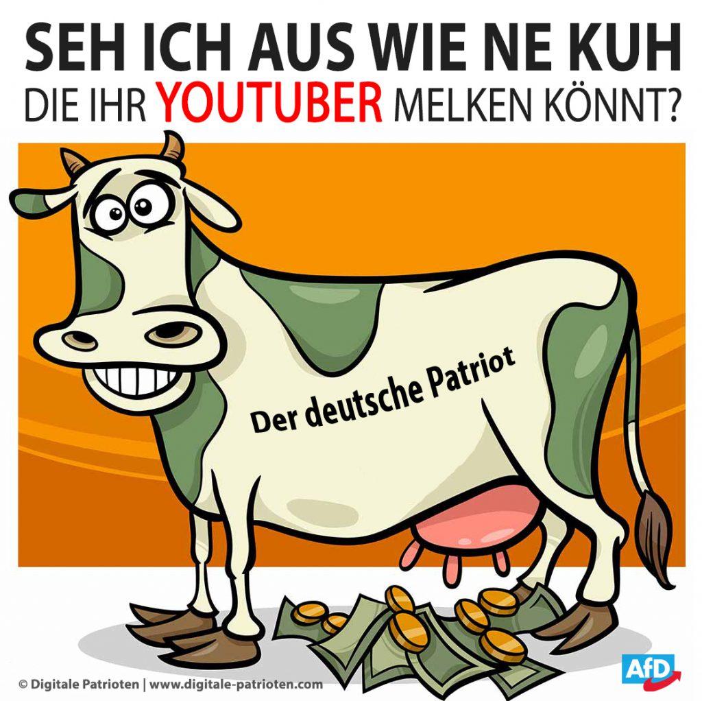 Spendenkuh melken - Der deutsche Patriot - Youtube Spenden