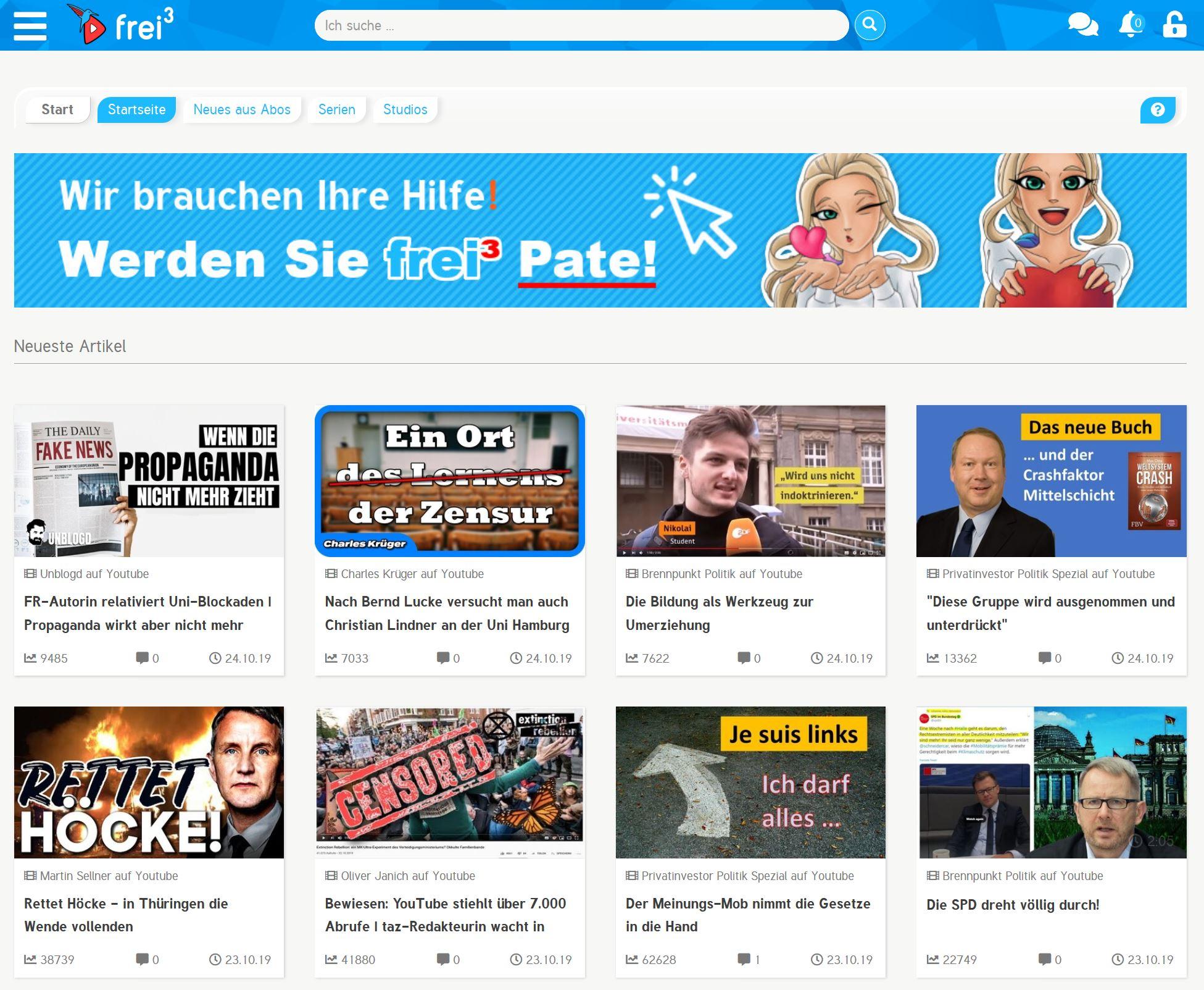 Frei3 ist tot, Hagen Grell, 80.000 Euro Spenden Geld, FreiHoch3 Ende