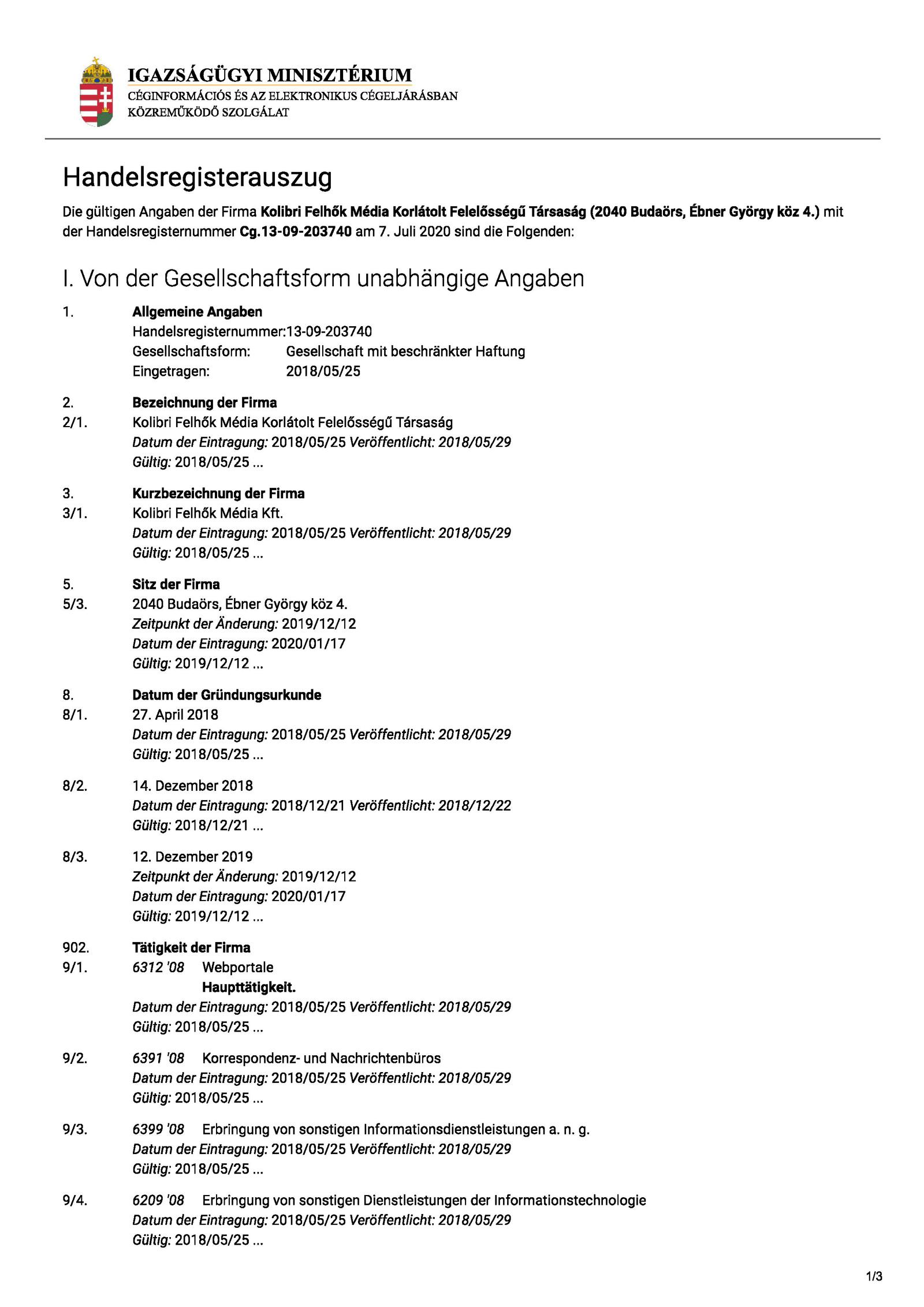 Hagen Grell, Frei3 Firmensitz Ungarn, Adresse Wohnort, Kolibri Felhök Média Kft, Alte Schäferei 11, 04509 Delitzsch, Carmen Weiß, Steuern, Handelsregister