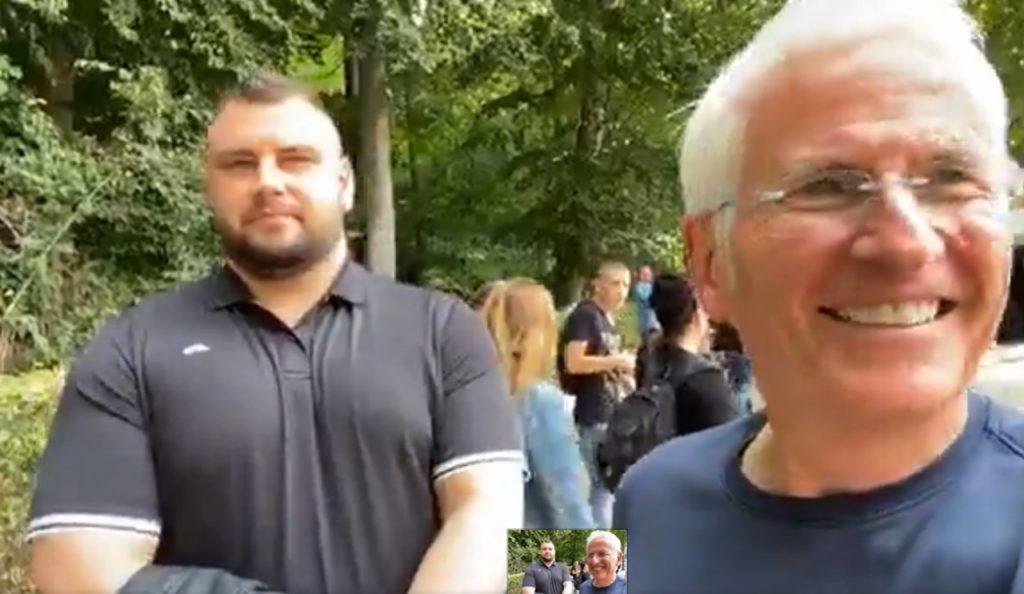 Angst vor Kritikern - Peter Weber beim Corona-Demo nur mit Security - HALLO MEINUNG